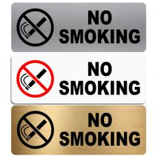No Smoking Sign-WITH IMAGE Aluminium Metal-Warning Health,Door,Notice,Office,Shop,Restaurant,Cafe